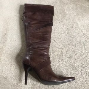 Bakers leather knee high boot
